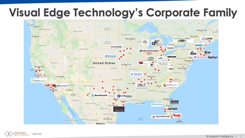 Visual Edge Technology's Corporate Family